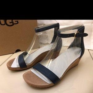 UGG Australia Emilia Wedge Ankle strap sandals 8.5